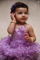 Cute Babies Pictures With Designer Gown Baby Images