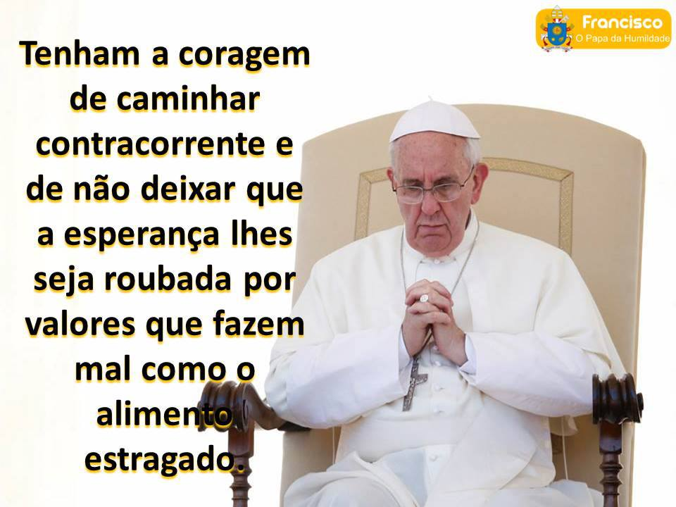 Em Contraluz Papa Francisco O Verdadeiro Discípulo De Deus Na Terra