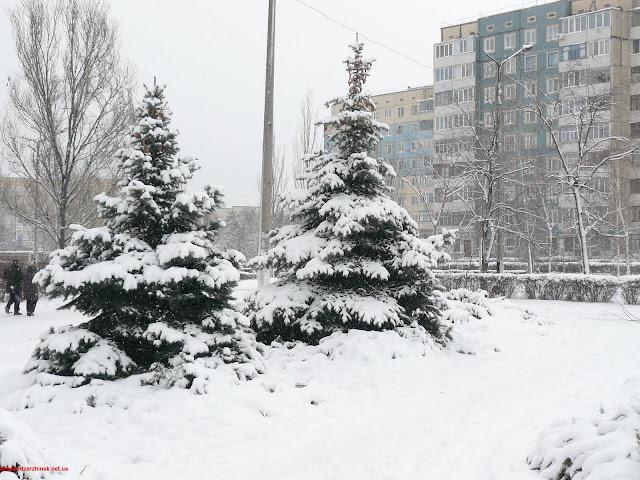 Зима в Днепродзержинске.