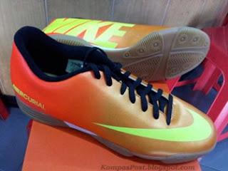 Sepatu Futsal Nike Mercurial Vortex Sunset Yellow Harga: Rp. 599,000