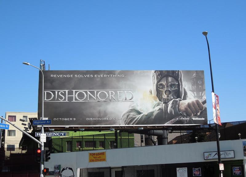 Dishonored video game billboard