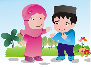 Mewarnai Gambar Anak Muslim
