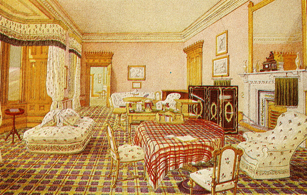 Queen Victoria s Drawing Room  1857  The whole house was decorated in royal  tartans. The Lothians  The Royal Residences of Queen Victoria   Balmoral Castle