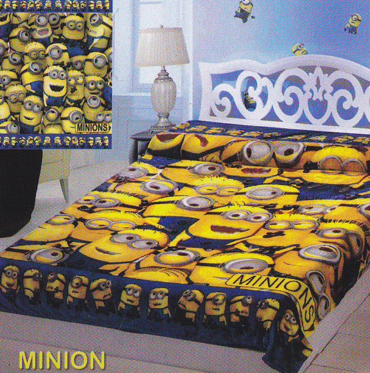 Selimut Sutra Panel Belladona Minion