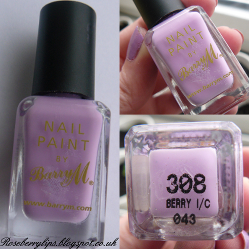 Barry M Nail Pain in Berry Ice Cream
