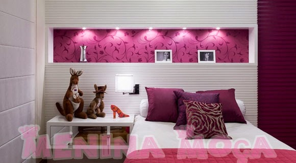 decoração de quarto femenino