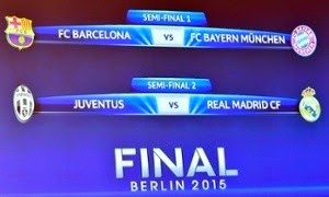 The draw is set for the Champions League semi-finals.