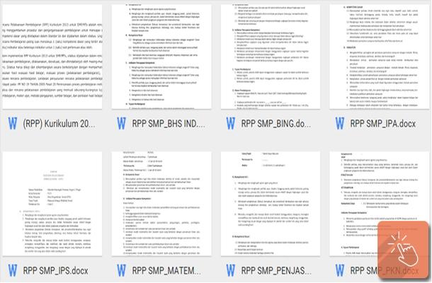 Download Contoh RPP Kurikulum 2013 untuk SMP/MTs