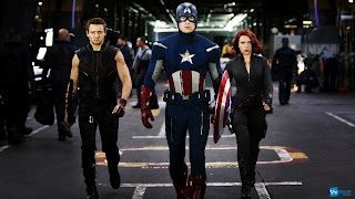 Hawkeye Captain America and Black Widow in Headquarter HD Wallpaper