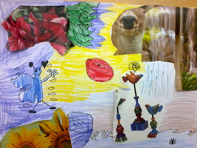 Dali art project for kids, Dali collage project