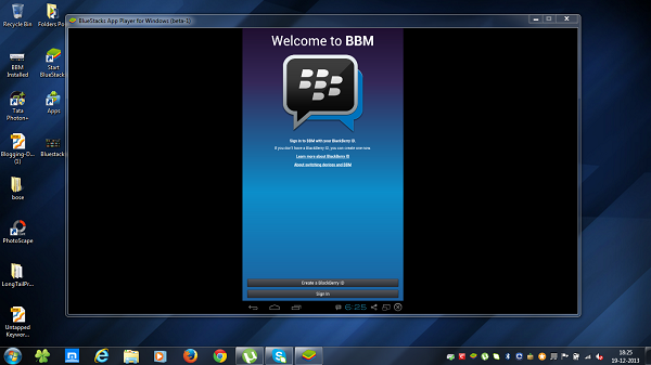 BBM is ready to use after registration