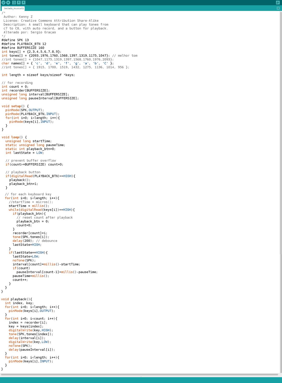 Espaço dos implementadores de informática arduino