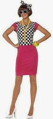Women's 2 Tone Ska 80s Costume