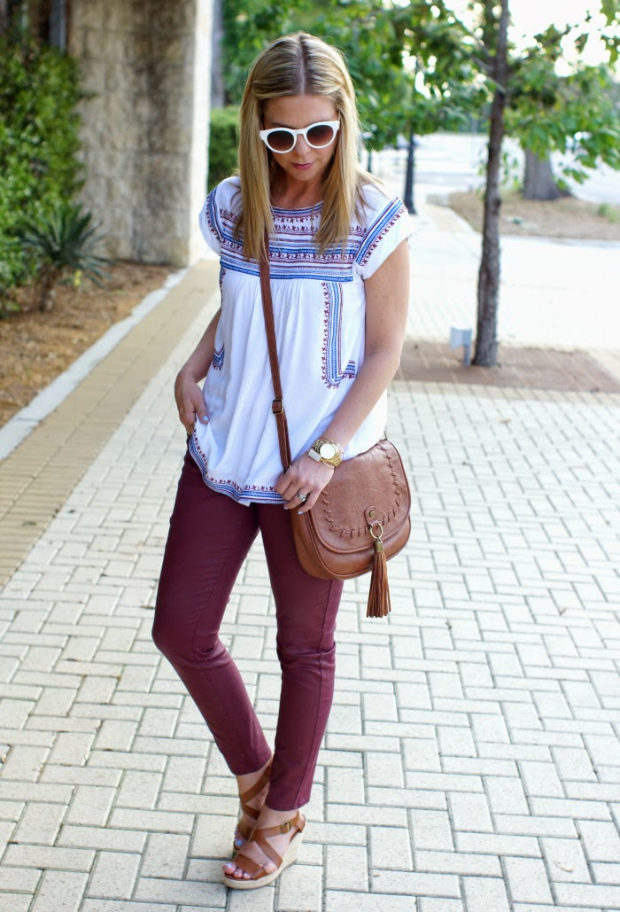 chic wish embroidered boho top