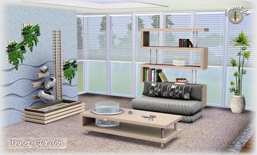 My sims 3 blog inner garden living set by simcredible designs for Garden design sims 4