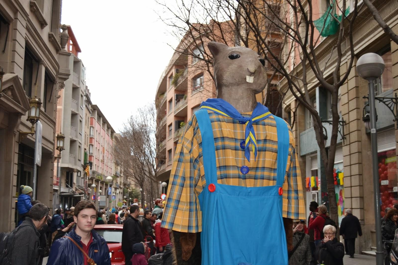 XI Trobada de gegantons de Sta. Eulàlia a Barcelona