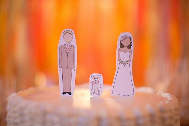 custom drawn cake toppers