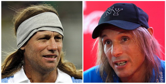 The real Claudio Caniggia (right) and his lookalike Daniel Cordone