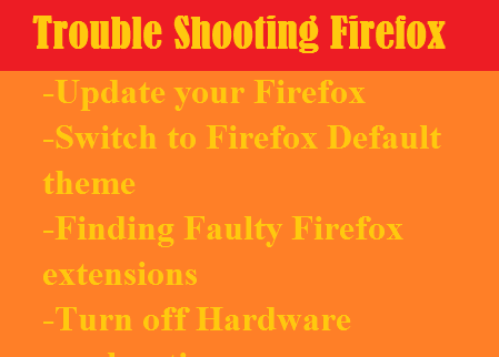 Mozilla Firefox-Common Troubles in Firefox and their Solutions