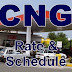 CNG Rates and Schedule in Pakistan