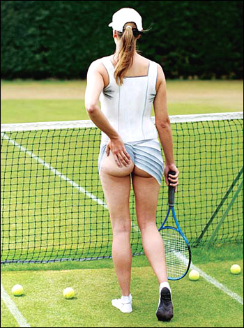 body paint art sexy girl playing tennis