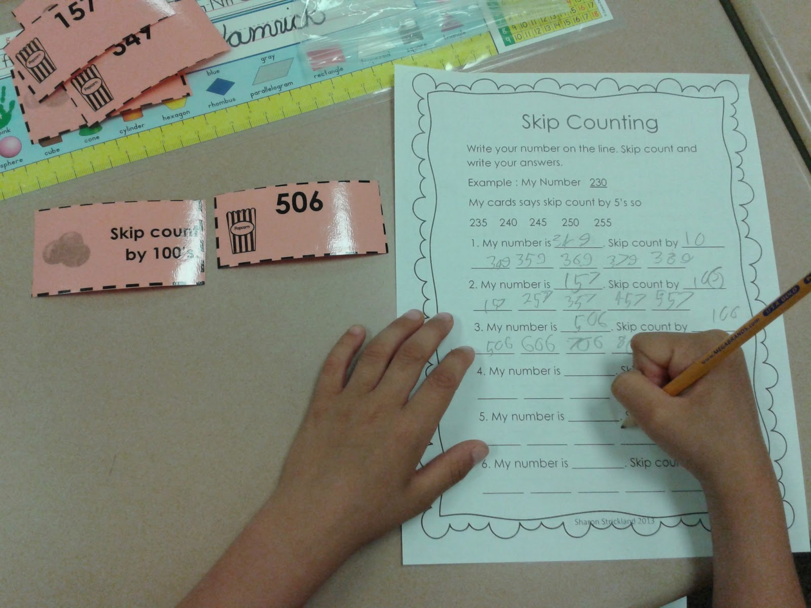Super Second Grade Smarties: Skip Counting and a Math Center Freebie!