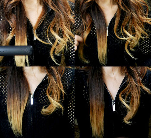 GHD Gold Flat Iron Before After
