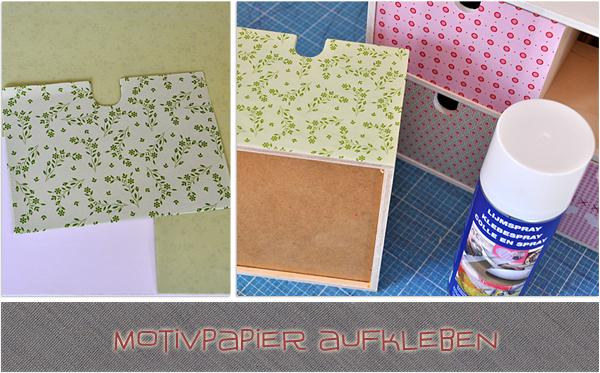 Moppe Upcycling mit Motivpapier von Folia