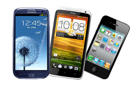 IPHONE 5 VS SAMSUNG GALAXY S3 VS ONE X VS HTC MOTOROLA DROID RAZR HD