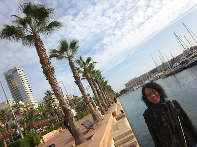 Marina and promenade of Alicante