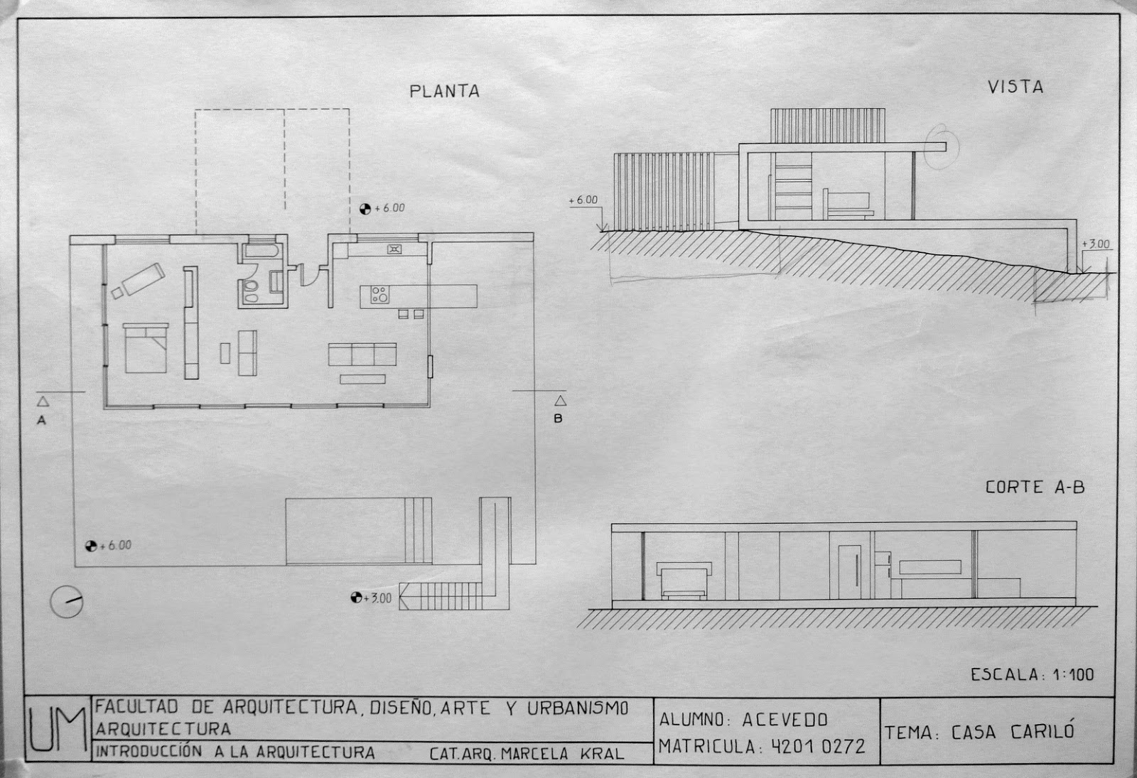 Elementos de dise o uno arquitectura plantas vistas y for Plantas de arquitectura