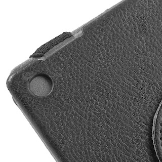 Black 360 Rotary Litchi Grain Leather Case Stand for Sony Xperia Tablet Z