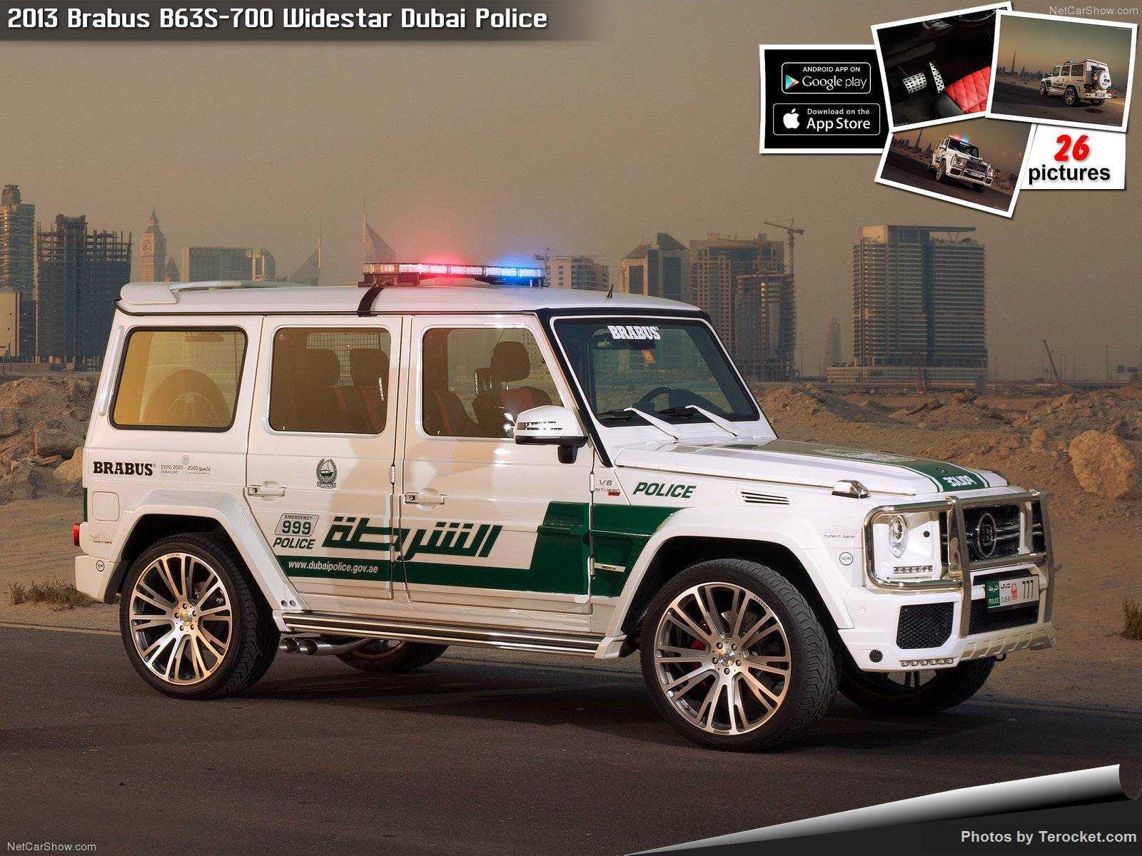 Hình ảnh xe ô tô Brabus B63S-700 Widestar Dubai Police 2013 & nội ngoại thất