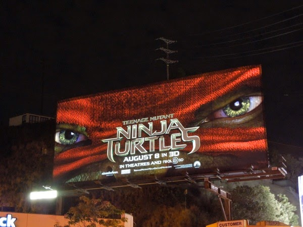 Ninja Turtles red mask billboard