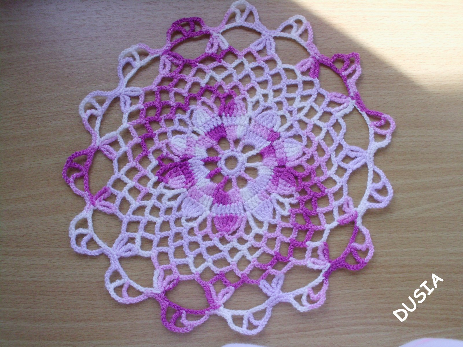 Serwetka fiolet-melanż