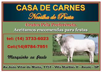 CASA DE CARNES NOVILHA DE PRATA Av. João Victor de Maria,1151 Vila Martins II - Avaré - SP Aceitamo