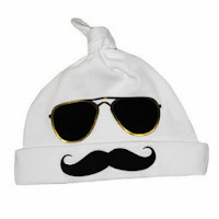 Psychobaby Mr Cool Stache Infant Hat