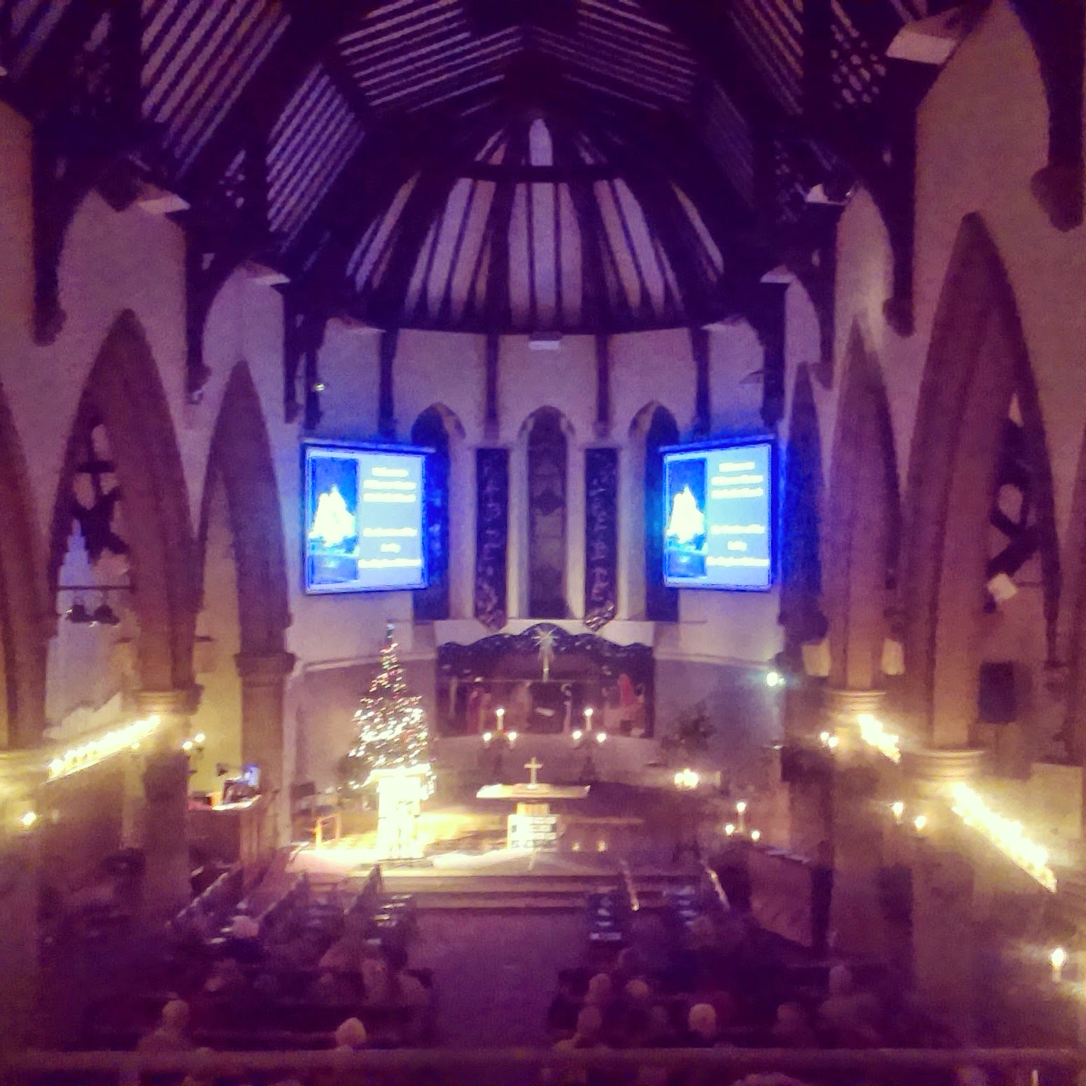 Candlelit carol service at church