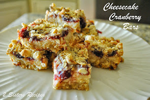 YUMMY Cheesecake Cranberry Bars