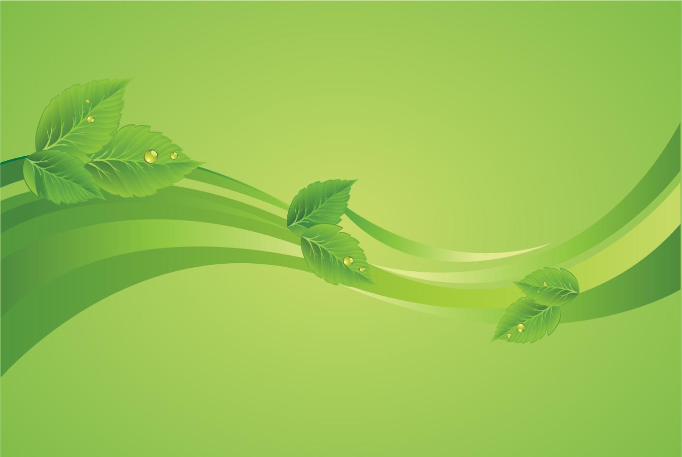 水が滴る緑の背景 green leaf backgrounds イラスト素材