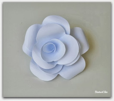 Paper flower tutorial from BistrotChic