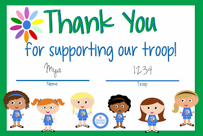 Unusual image throughout girl scout cookie thank you notes printable