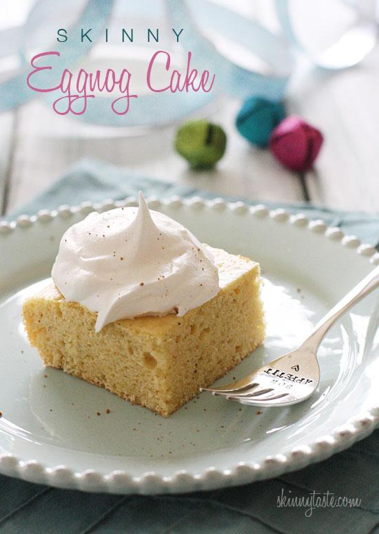 Skinny Eggnog Cake | Skinnytaste