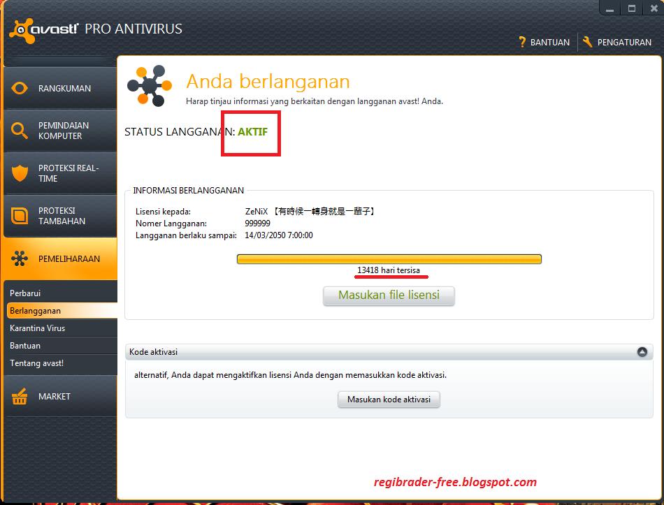 Aktivasi Avast 7 Pro Antivirus