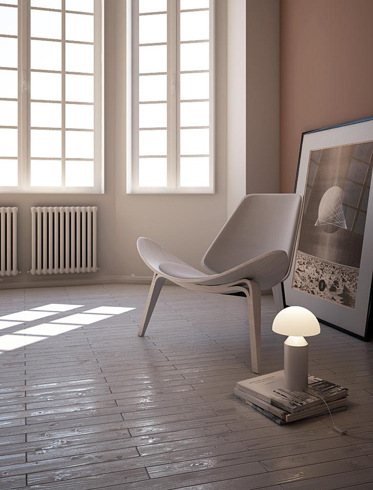 riflessioni realistiche pavimento legno vray