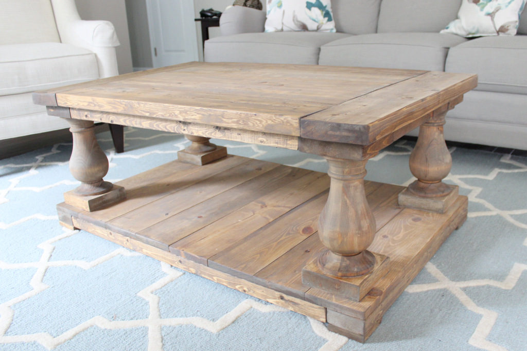 diy restoration hardware knockoff coffee table - home sweet ruby