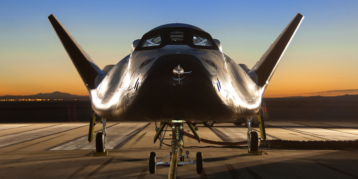 The Sierra Nevada Corporation, or SNC, Dream Chaser flight vehicle is prepared for 60 mile per hour tow tests on taxi and runways at NASA's Dryden Flight Research Center at Edwards Air Force Base in California. Credit: SNC