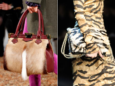 Fashion bags of fall to winter 2011/2012: fur