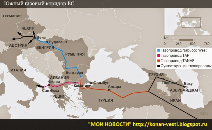 Южный газовый коридор реализуется с опережением графика