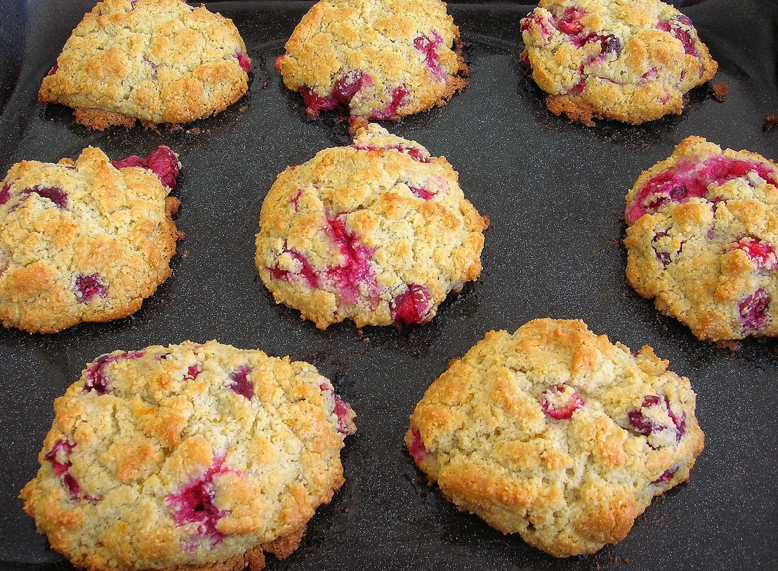 The scones turned out awesome. Tender with crisp edges and packed with ...